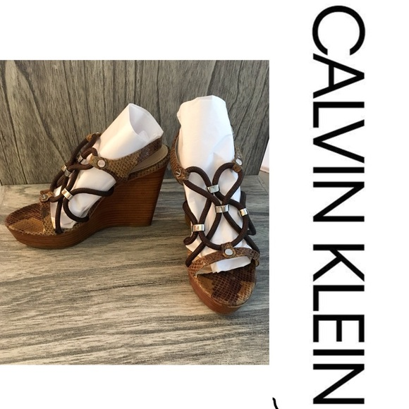 263254a9bfd Calvin Klein Shoes - Calvin Klein wedge sandals